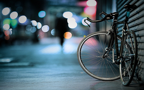 bicycle BOKEH