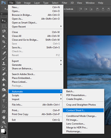 How to Make a Contact Sheet – Photoshop and Windows – Photography