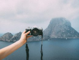 Camera with Landscape
