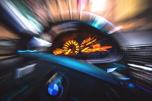 Long Exposure Car Wheel